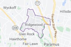 Ridgewood New Jersey map